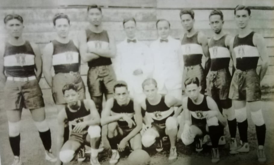 1923 Philippine team that won the gold during the Far Eastern Games in Osaka, Japan.