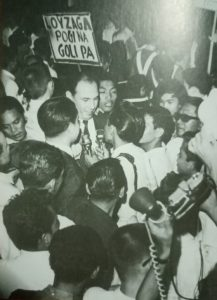 The debonaire King Caloy campaigns for a councilor's seat in the city of Manila during the late 1960s. [Henry Liao photo]