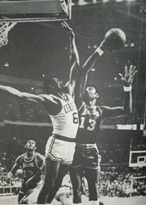 Even in an LA Laker uniform, Wilt Chamberlain could not beat Bill Russell in his farewell season in 1969 as the Celtics won in seven games in the NBA Finals despite the Lakers hosting the finale at Fabulous Forum.