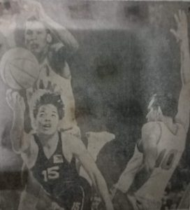 Barrelling Big J goes for a layup against Panama during the 1968 Mexico Olympics. Jaworski finished with 15 points but the Panamanians triumphed, 95-92.
