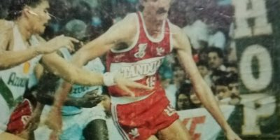 Fernandez navigates around his defender while donning the Tanduay colors.