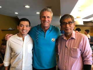 The photo above was taken a few years ago, this writer, Coach Karch Kiraly and PSL Chairman Dr. Philip Juico, when, arguably, the greatest men's volleyball player ever, Karch Kiraly, graced our shores to conduct a coaching seminar for PSL coaches and players.