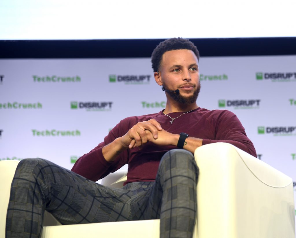 Stephen Curry [photo credit: Wikimedia Commons | TechCrunch]