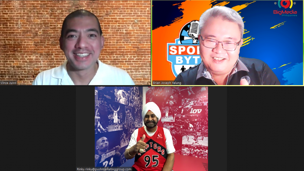 Vicent Juico, Brian Yalung and Toronto Raptors Superfan Nav Bhatia on Sporst for All PH.