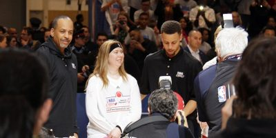 The Curry's - Dell Curry and Stephen Curry at NBA All-Star Weekend Center Court 2016 [photo credit: lam_chihang   WIkimedia Commons]
