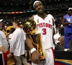 Undrafted, Ben Wallace stepped up to become a four-time NBA Defensive Player of the Year awardee with a title ring to boot from the Detroit Pistons.
