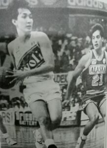 Allan Caidic vs. Bong Alvarez (21). Alvarez beat Caidic to the first 70-point feat by a Filipino in PBA annals by one year and seven months.