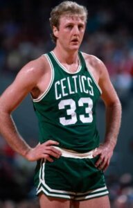 """Larry Bird earned NBA MVP honors from 1984-86. Bill Russell and Wilt Chamberlain were the only other players in NBA history to score a """"three-peat."""""""