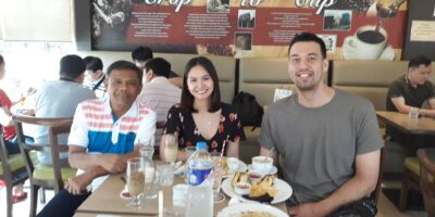 The writer with Greg Slaughter of NorthPort Batang PIer.
